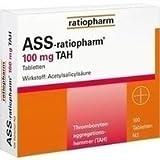 ASS-ratiopharm® 100 mg TAH Tabletten 100 Stück