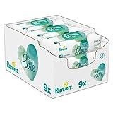 Pampers Aqua Pure Baby Feuchttücher, 432 Tücher (9 x 48) Mit 99% Purem Wasser, Dermatologisch Getestet, Baby Erstausstattung Für Neugeborene