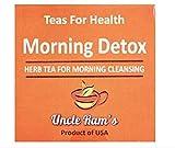 UNCLE RAM'S Morning Detox (Kräutertee für die morgendliche Reinigung) (14 Teebeutel) 19,6 g – Kräutertee für den Morgen verwendet Gurken und Löwenzahnblätter