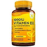 Vitamin D3 1000 I.E - 365 Kapseln - Unterstützt Knochen, Zähne, Muskeln und Immunsystem* - Vitamin D3 aus Deutschland - ohne künstlichen Zusatzstoffe - Hohe Reinheit - Hochdosiert - Premium Qualität