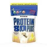 WEIDER Protein 80 Plus Eiweißpulver, Cookies & Cream, Low-Carb, Mehrkomponenten Casein Whey Mix für Proteinshakes, 500g