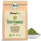 Gerstengras Pulver BIO (500g) | Aus deutschem Anbau | Rohkostqualität | 100% Gerstengraspulver | Rückstandskontrolliert | vom-Achterhof