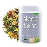 DrinkTea Sleep Tight Bio Gute Nacht Tee | natürlich süß | loser Superfood Kräutertee | Hanf, Hopfen, Baldrian, Fenchel, Lavendel | Abend-Tee | Apfel-Vanille