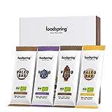 foodspring Bio Paleo Bar, Mix Kokosnuss Heidelbeere Kakao Maracuja, 12er Pack, Veganer Rohkost-Riegel