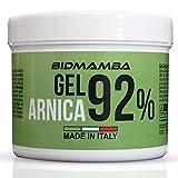 BidMamba Arnika-Gel 92% 500ml | Arnika Salbe Hochkonzentriert , Entzündungshemmende Salbe, Schmerzgel Entzündungshemmend Stark, Gelenkschmerzen Salbe, Schmerzsalbe Stark Entzündungshemmend,