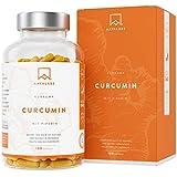 Kurkuma Kapseln Hochdosiert - [ 4230 mg ] 95% Curcuma Extrakt Komplex, Kurkuma Pulver und Piperin pro Tagesdosis - 180 Curcuma Kapseln - Vegan & Laborgeprüft - Hergestellt in der EU