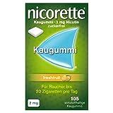NICORETTE Kaugummi 2mg freshfruit – Nikotinkaugummi zur Raucherentwöhnung – Fruchtgeschmack –2mg Nikotin – Rauchen aufhören