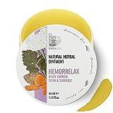 BenePura Hämorrelax 100% natürliche Kräutersalbe 40 ml Weiße Schafgarbe Tetra und Kurkuma Wirkt sich günstig auf die Haut des Anuses aus Ohne Tierversuche Konservierungsmittelfrei Glutenfrei