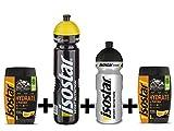 Isostar Hydrate & Perform 2x400 g isotonisches Elektrolytgetränk + 1000 ml + 500 ml Flasche ? Elektrolytlösung zur Unterstützung der sportlichen Leistungsfähigkeit ? (2xOrange + 1000ml +500ml Flasche)