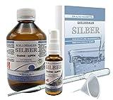 LIQUID FOR LIFE® Kolloidales Silber 25ppm - 250ml Silberwasser - inklusive 30ml Sprühflasche und Zubehör, in STRAHLENSCHUTZVERPACKUNG und RATGEBER