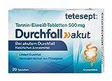 tetesept Tannin-Eiweiß-Tabletten Durchfall Akut – Natürliches Arzneimittel zur unterstützenden Behandlung bei Durchfall – 20 Tabletten