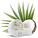 Tropicana Oil Natürliche Körperbutter mit nativem Kokosöl | Vegane Feuchtigkeitspflege | Bodybutter mit Vitaminen und Nährstoffen, Sonnenblumenöl, Süßmandelöl, Shea Butter und Kakaobutter