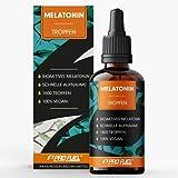 Melatonin Tropfen 50 ml (1800 Tropfen) mit 0,5 mg pro Tagesdosis - optimal dosiert & effektiv - reicht für 900 Anwendungen - ohne Alkohol - laborgeprüft mit Zertifikat