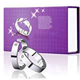 5 Größen Anti-Schnarch-Ring Magnet-Therapie-Ring Atemhilfegerät Fördern Sie die Einstellung für einen bequemen Schlaf-Schnarchring(S)