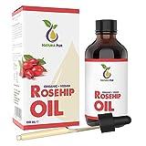 Hagebuttenöl BIO 120ml (Wildrosenöl) - 100% kaltgepresst, unraffiniert, vegan - für Gesicht, Körper, Haare, Haut, Hände, Kopfhaut