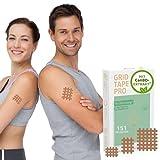 AKTIMED Grid Tape CannaPro - Premium Gittertape mit hochwertigem Extrakt* - Patentbasierte Akupunkturpflaster dermatologisch getestet - Crosstape Gitterpflaster Schmerz & Entzündungspunkte*