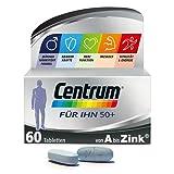 Centrum Generation 50+ Für Ihn – Hochwertiges Nahrungsergänzungsmittel mit Mikronährstoffen – Speziell für Männer ab 50 – Vitamine, Mineralstoffe, Spurenelemente – 1 x 60 Tabletten