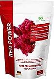 RED POWER - Smoothie Mix mit Kollagen, Acai, Resveratrol, OPC Traubenkernextrakt, Zink. Viele Antioxidantien und Vitamine.
