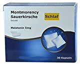Montmorency Sauerkirsche Extrakt standarisiert, 5mg hochdosiert mit Vitamin B6 und Magnesium, 30 Kapseln, einschlafhilfe, zum einschlafen, schlafmittel, schlaftabletten
