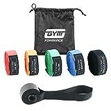 GYMFORMANCE Resistance Bands mit Türanker und Aufbewahrungstasche - Fitnessbänder in 5 unterschiedlichen Stärken - Pull Up Widerstandsbänder im Set