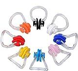 kuou 8 Stück Wasserdichte Nasenklammer, Schwimmen Nase Clip Nasenschutz für Schwimmen Silikon Nasenclip für Erwachsene Kinder Unisex(8 Farben)