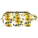 Kosmetiktasche Tragbare Reise Make-up Taschen Toilettenartikel Organizer Bleistift Fall für Frauen Mädchen Sonnenblumenöl Gemälde