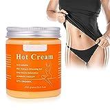 Schlankheitscreme, Anti-Cellulite Hot Cream Fatburner Gelforming Creme für Körpermassage Strafft die Haut Muskelentspannung, Natürliche 87% Bio 250g
