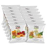 EASIS Chips Mix Box Verschiedene Sorten Sour Cream & Onion und Paprika - 2 x 7er pack (14 x 50 g)