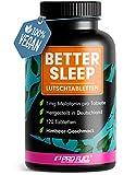 Melotanin Lutschtabletten 120x - leckerer Himbeere-Geschmack - Melotanin + Magnesium, L-Theanin und Glycin - zuckerfrei gesüßt, 100% vegan - Vorrat für 8 Monate - BETTER SLEEP