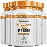 Sunnytin Plus – Vitamin D3 und Glucomannan Kapseln – bringe den Körper in den Sommermodus (5 Dosen je 180 Kapseln)