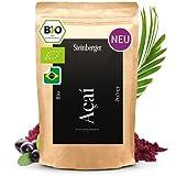 Acai Pulver bio laborgeprüft ohne Zusatzstoffe | Aus 100% Acai Beeren | Superfood vegan, schonend gefriergetrocknet u. fein vermahlen ideal für Bowl, Smoothie, Shakes, Sorbet | 100g