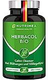 Colon Cleanse HERBACOL BIO   Darmreinigung Kur mit Flohsamenschalen, Ingwer, Fenchel, Aloe Vera   Natürliche Darmreinigung für gesunde Darmflora & Verdauung   90 Darm Kapseln Hochdosiert 100% VEGAN