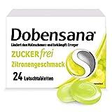 Dobensana Zuckerfrei Zitrone Lutschtabletten 1,2mg/0,6mg – Halstabletten zur Schmerzlinderung bei leichten Halsschmerzen & Schluckbeschwerden – 1 x 24 Tabletten