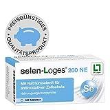 selen-Loges® 200 NE 4-Monatspackung - Multitalent für die Zellgesundheit - Nahrungsergänzungsmittel mit hochwertigem Natriumselenit bei ungenügender Selenversorgung - 100 Tabletten