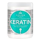 Kallos KJMN Creme mit Keratin & Milchproteine für trockenes, brüchiges und chemisch behandeltes Haar, 1000 ml