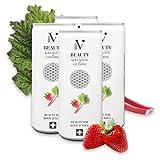 NEO-V 4x Beauty-Drink mit Kollagen & Vitaminen - Anti-Aging Vital-Drink - Collagen Getränk - Schönheit von innen - Erdbeere & Rhabarber - 4x 250 ml Dose