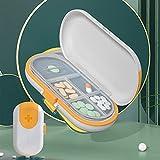 LEcylankEr Pillendose 4 Fächer, Mit Tablettenteiler für Große und Kleine Tabletten,Tragbare Tablettenbox für Reisen und Draußen,Kunststoff Medikamentenbox (Weiß)