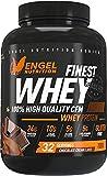 Engel Nutrition Finest Whey Protein Pulver | 100% CFM Whey Protein aus Weidemilch | Eiweißpulver mit extra Aminosäuren, Enzymen & Probiotika |Über 24g Protein, nur 0,5g Fett (Schokolade, 1kg)