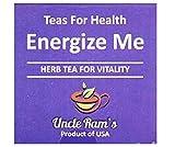 UNCLE RAM'S Energize Me (14 Teebeutel) (19,6 g) – während der Rooibos-Tee ein ausgezeichnetes Antioxidans ist, wird der Tee mit der perfekten Kombination von Eleuthero vermischt.