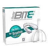 Zahnschiene Knirschen gegen Bruxismus Doctor Bite Pro Dulàc - Knirscherschiene für Nacht (Kann aber auch Tagsüber Verwendet Werden) - Aufbissschiene, der sich den Zähnen anpasst - Inklusive Box