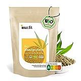 nur.fit by Nurafit BIO Hanfprotein-Pulver 500g – Hanfeiweiß Pulver aus kontrolliert biologischem Anbau mit 50% Proteingehalt - natürliches veganes Proteinpulver ohne Zusatzstoffe – vegan Protein