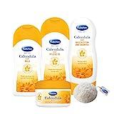 Bübchen Calendula Babypflege-Set 4-teiliges Pflegeset mit Konjac Schwamm, 1er Pack (4 Produkte)