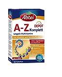 Abtei A-Z Komplett Langzeit-Multivitamine - hochdosiertes Nahrungsergänzungsmittel für Vitalität und Wohlbefinden mit 24 Nährstoffen - mit Vitamin B12 und Lutein - 1 x 42 Tabletten