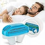 Croerw-2-in-1-Anti-Schnarch-Geräte, Schnarchstopper gegen Schnarchen und gutes Atmen - sicherer, wirksamer Luftreiniger, Nasenentlüftungsstopfen für komfortables Arbeiten (blue)