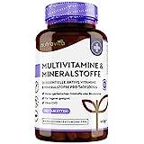 Multivitamin & Mineralstoffe - 365 hochdosierte Tabletten mit Bioaktiv-Formen und Premium-Rohstoffen - Unabhängig Laborgetestet - vegane, Multivitamintabletten mit 26 aktiven Vitamine & Mineralstoffe