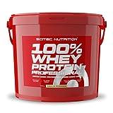 Scitec Nutrition 100% Whey Protein Professional mit extra zusätzlichen Aminosäuren und Verdauungsenzymen, glutenfrei, 5 kg, Vanille
