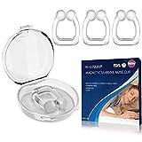 UPGRADED Schnarchstopper Premium Nasenclip [4er Set], Neuartige Nasenklammer gegen Schnarchen für möglich bessere Atmung   Für ruhige und entspannte Nächte  Sofortige Anti Schnarch Hilfe  BPA-Frei