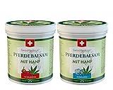 Pferdebalsam mit Hanf kühlend und wärmend - Massage creme für Muskeln und Bänder - ideal für Sportler - natürliche Pflanzenextrakte - 2x250 ml