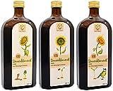 Bio-Sonnenblumenöl 1,5l (3x 500ml), nativ, kaltgepresst aus High-Oleic Sonnenblumen aus Biosaatgut Initiative