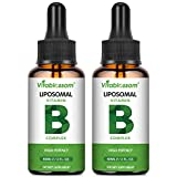 Liposomale Vitamin B-Komplex Flüssigkeit, MAX Absorption, enthält die Vitamine B1, B2, B3, B5, B6, B12, Biotin und Folat, das Immunsystem & Energie 60ML (2 PACK)